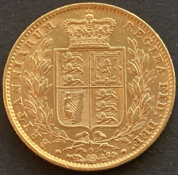 1879 Gold  Sovereign Sydney  Mint